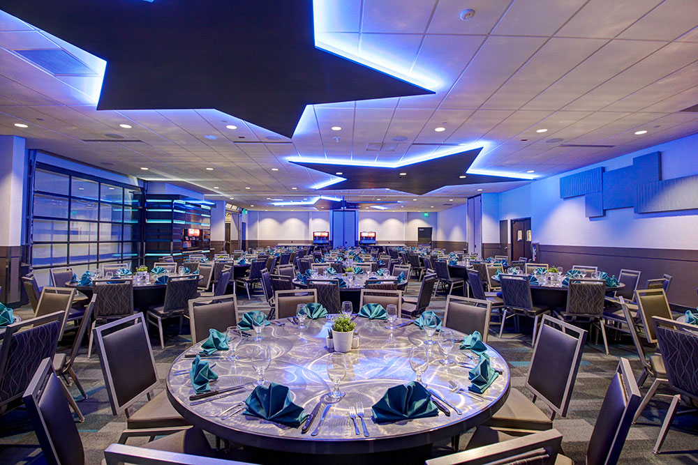 Banquet Set Up in Aurora Room at Galaxy Event Center