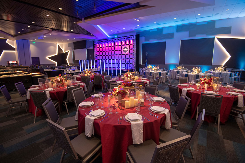 Holiday Party Set Up At Galaxy Event Center